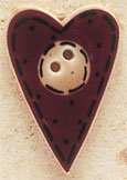 43024 Folk Heart w/Buttons Debbie Mumm Button