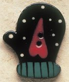 43025R Dotted Right Mitten w/Heart Debbie Mumm Button