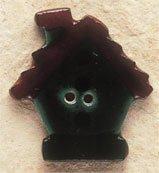 43029 Dk. Green Birdhouse Debbie Mumm Button