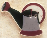 43030 Grey Watering Can Debbie Mumm Button