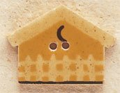 43032 Gold Birdhouse Debbie Mumm Button