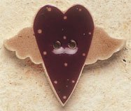 43033 Flying Folk Heart Debbie Mumm Button