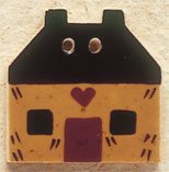 43035 Gold Quilt House Debbie Mumm Button