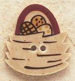 43038 Egg Nest Basket Debbie Mumm Button