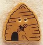 43040 Bee Skep Debbie Mumm Button