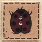 43041 Ladybug on Square Debbie Mumm Button