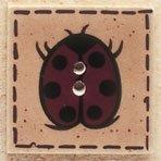 43041 Ladybug on Square Debbie Mumm Button