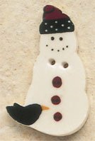 43042 Snowman w/Crow Debbie Mumm Button