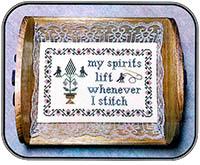 My Spirits Lift Whenever I Stitch