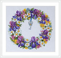 Wreath with Irises Kit