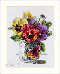 Pansies and Butterfly Kit