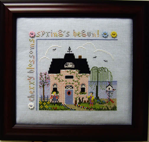 SHOP MODEL - CHERRY BLOSSOM COTTAGE SAMPLER