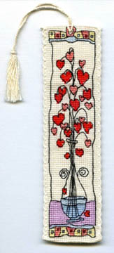 Hearts in Glass Vase Bookmark Kit