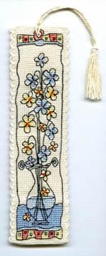 Flowers in Glass Vase Bookmark Kit