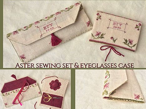 Aster Sewing Set & Eyeglass Case