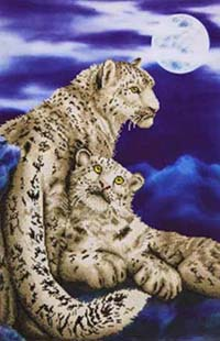 Snow Leopard -  Diamond Dotz Kit