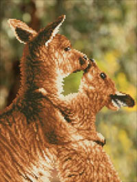 Kissing Kangas  - Diamond Dotz Kit