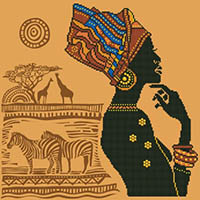 African Elegance - Diamond Dotz Kit