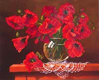 Red Poppies -  Diamond Dotz Kit
