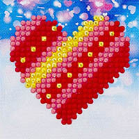 Patchwork Heart -  Diamond Dotz Kit