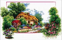 English Cottage Lane - No Count X-Stitch Kit