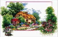 English Cottage Lane - No Count X-Stitch Kit