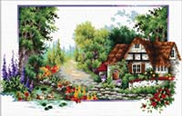 English Cottage Steam - No Count X-Stitch Kit