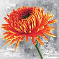 Orange Dahlia  - No Count X-Stitch Kit