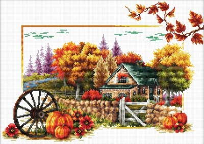 Autumn Farm -  No Count X-Stitch Kit