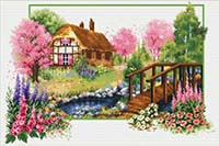 Spring Cottage -  No Count X-Stitch Kit