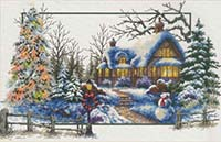 Winter Cottage -  No Count X-Stitch Kit