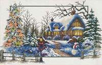 Winter Cottage -  No Count X-Stitch Kit