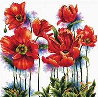 Lovely Poppies -  No Count X-Stitch Kit