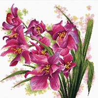 Lovely Orchids -  No Count X-Stitch Kit