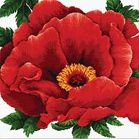 Peony -  No Count X-Stitch Kit