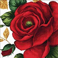 Rose -  No Count X-Stitch Kit