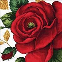 Rose -  No Count X-Stitch Kit