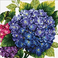 Hydrangea -  No Count X-Stitch Kit