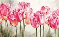 Pink Tulips -  No Count X-Stitch Kit