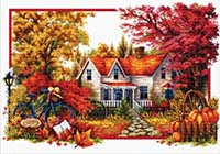 Autumn Comes -  No Count X-Stitch Kit