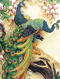 Peacock Majesty - No Count X-Stitch Kit