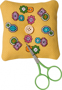 Buttons Needlepillow Kit