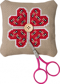 Hearts Flower Needlepillow Kit