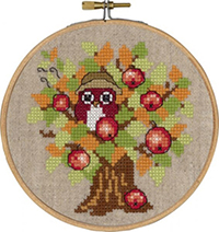Autumn Owl with Hoop Kit