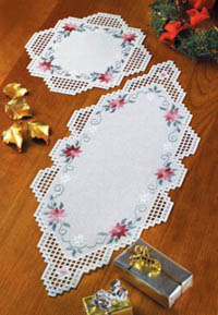 Christmas Hardanger Table Runner or Topper Kit