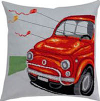 Red Fiat Pillow Kit