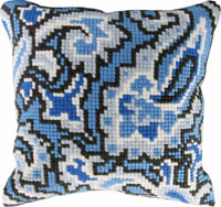 Blue Design Pillow Kit Pillow Kit