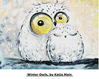 Winter Owls, by Katji Main