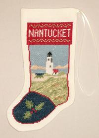Nantucket Lighthouse Stocking Ornament Kit