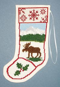 Moose Stocking Ornament Kit